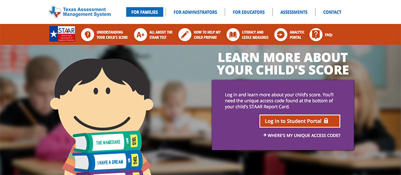 Texas Assessment Website Image