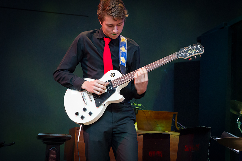 Guitar player with the McKinney Boyd Jazz Ensemble