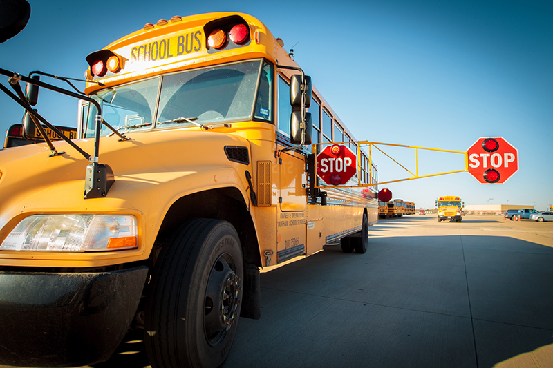 MISD bus with new longer stop arm extended
