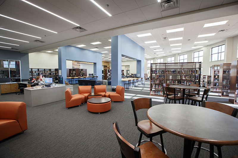 wide shot of the library