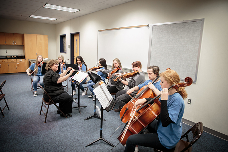 Chamber orchestra performing