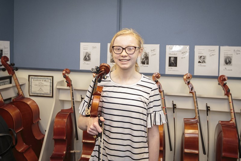 standing with violin
