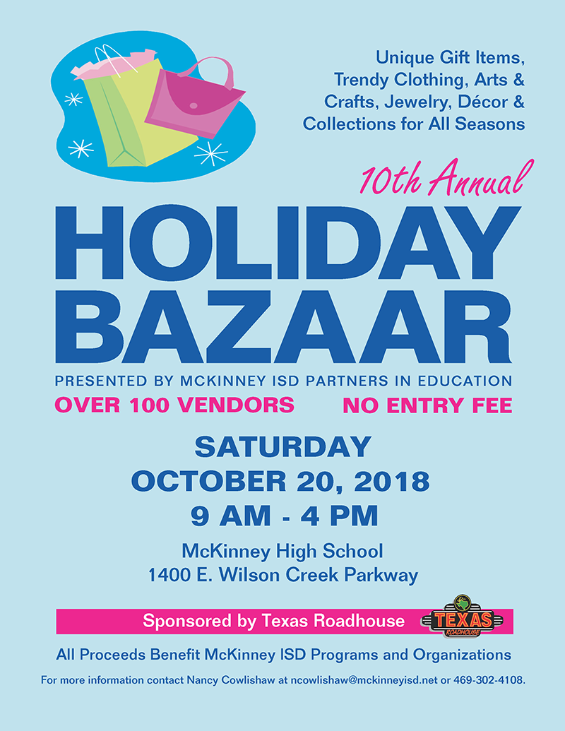 flyer the 10th annual holiday bazaar