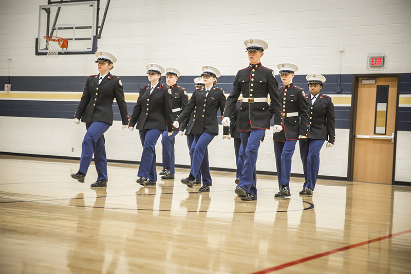 marching in formation