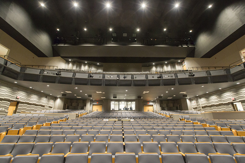 completed view from front of auditorium