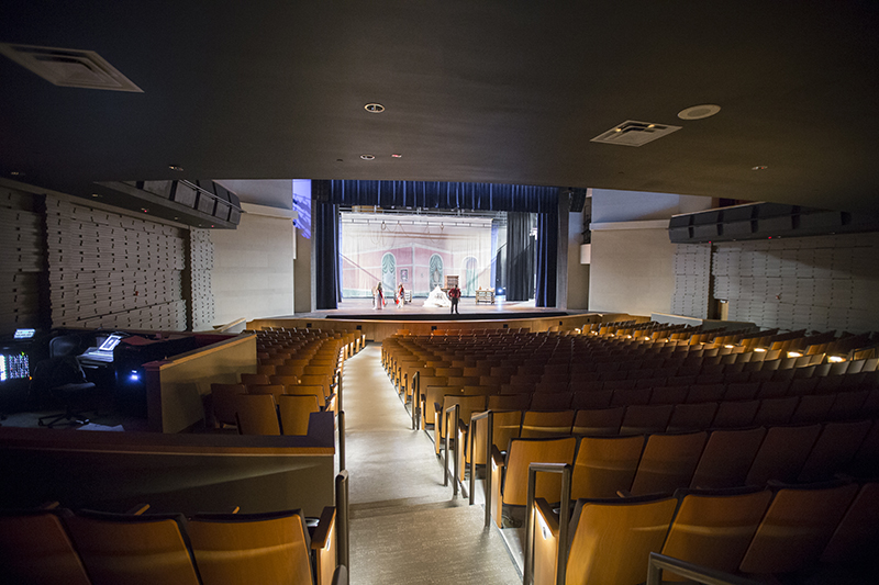 view from rear of auditorium