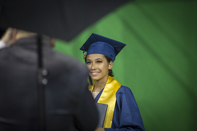 female student smiling for camera