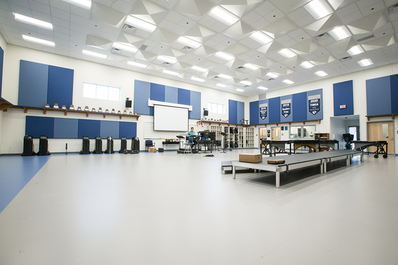 wide shot of bright room
