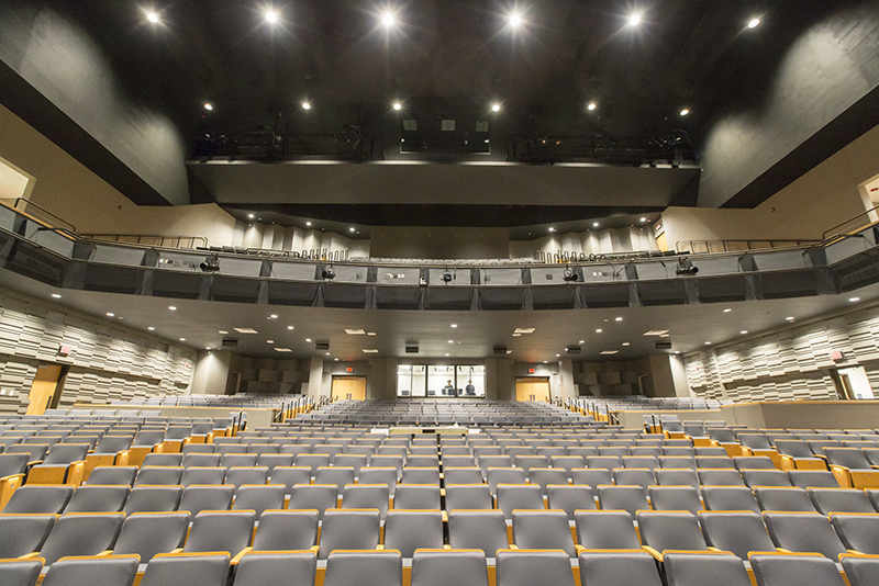 shot of auditorium from stage