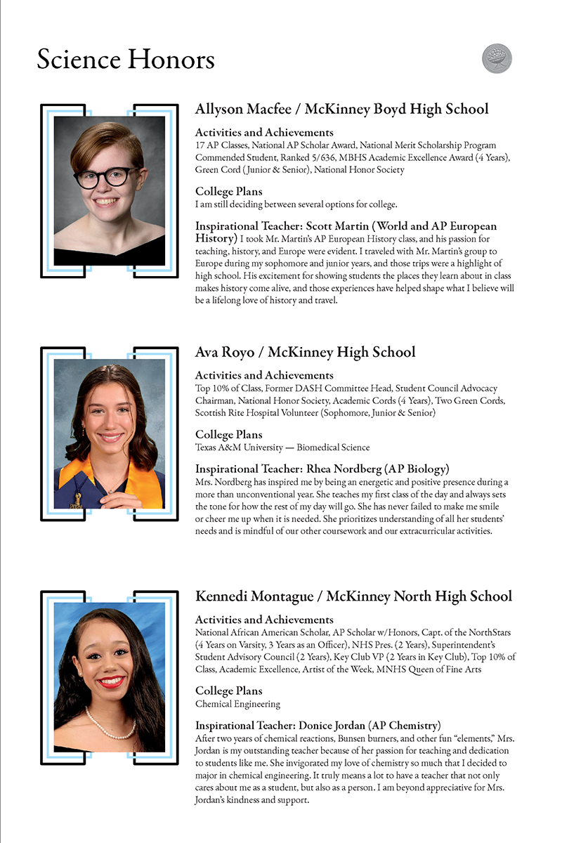 Science page - Allyson Macfee, Ava Royo, Kennedi Montague